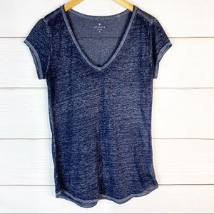 Athleta V-Neck Sheer Tee Size S